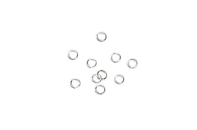 brass rings round rings 4.5x0.8mm silver x500pcs