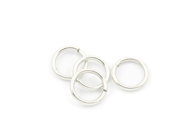 brass jumpring 16mm silver color x 50pcs