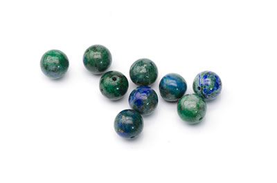 chrysocolla round 8mm  x1 std (approx 48pcs)