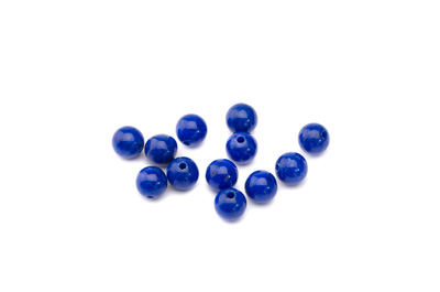 mashan jade lapis blue round 6mm x1 std (approx 66pcs)